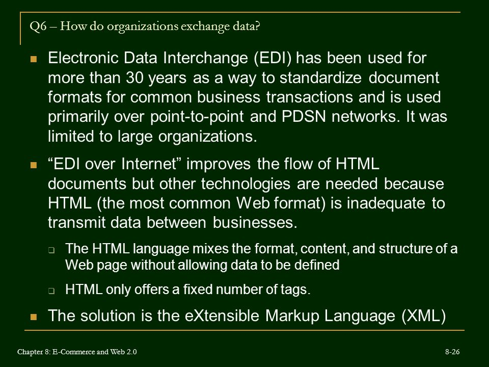 Q6 – How do organizations exchange data