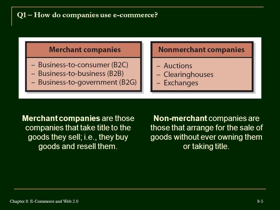 Q1 – How do companies use e-commerce