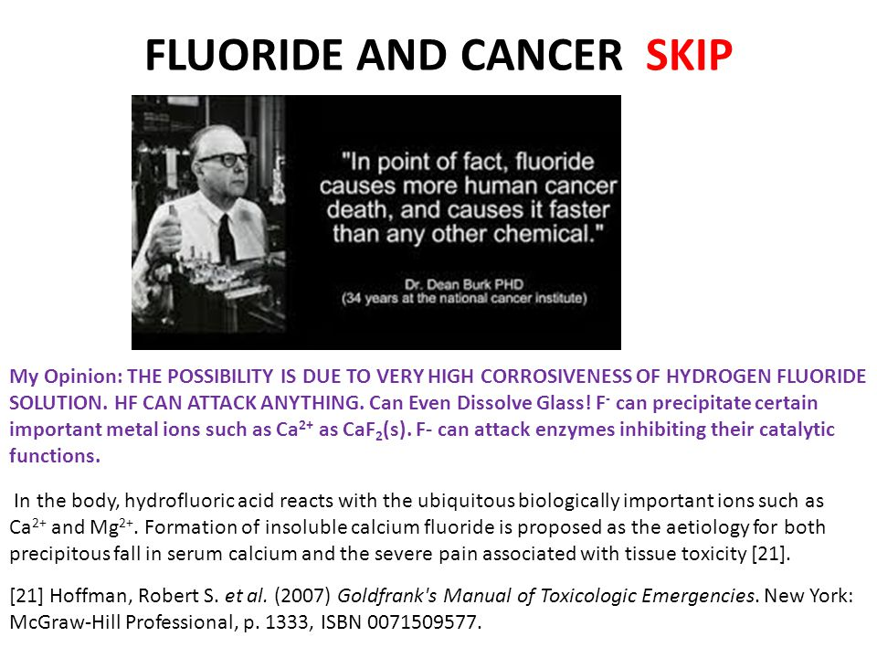 FLUORIDE AND CANCER SKIP