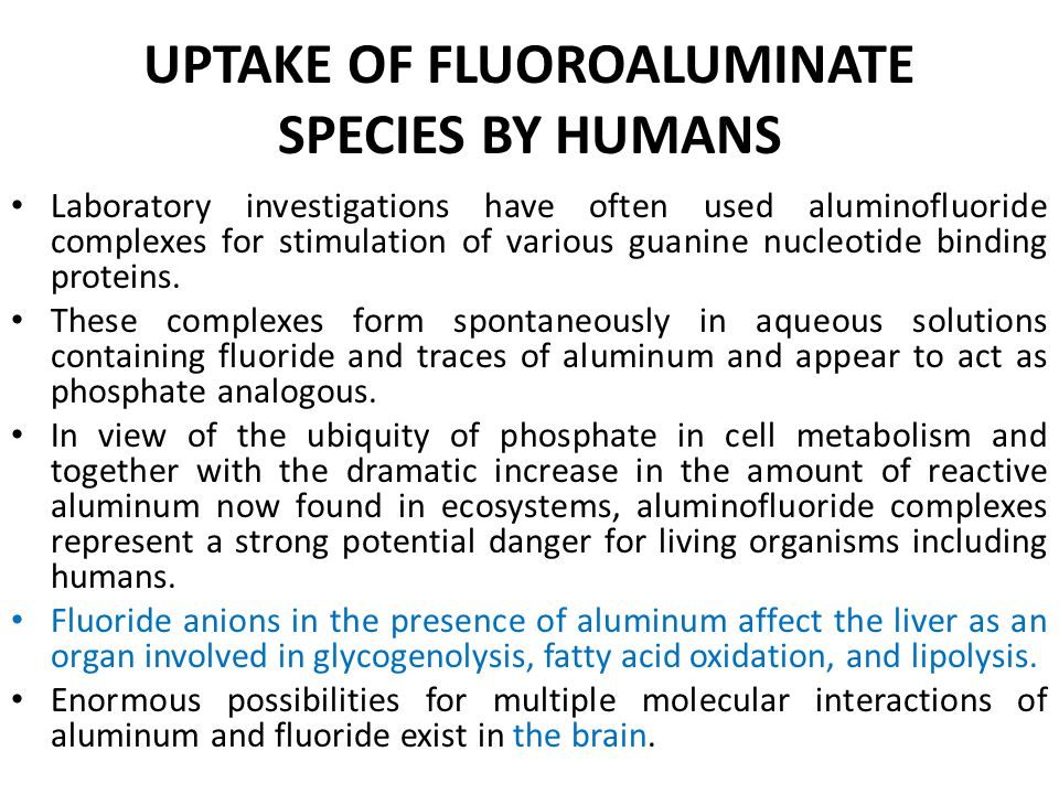 UPTAKE OF FLUOROALUMINATE SPECIES BY HUMANS