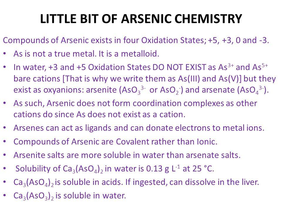 LITTLE BIT OF ARSENIC CHEMISTRY
