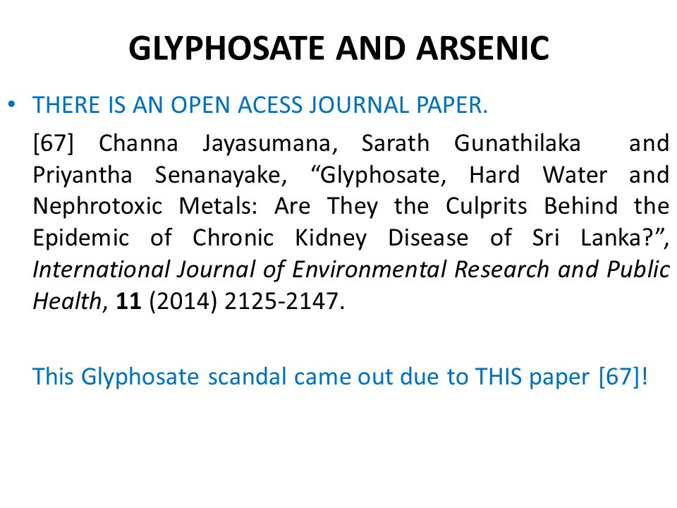 GLYPHOSATE AND ARSENIC