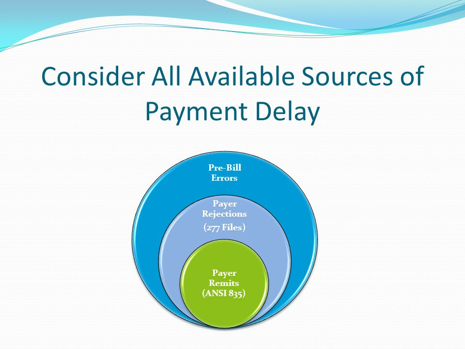 Consider All Available Sources of Payment Delay