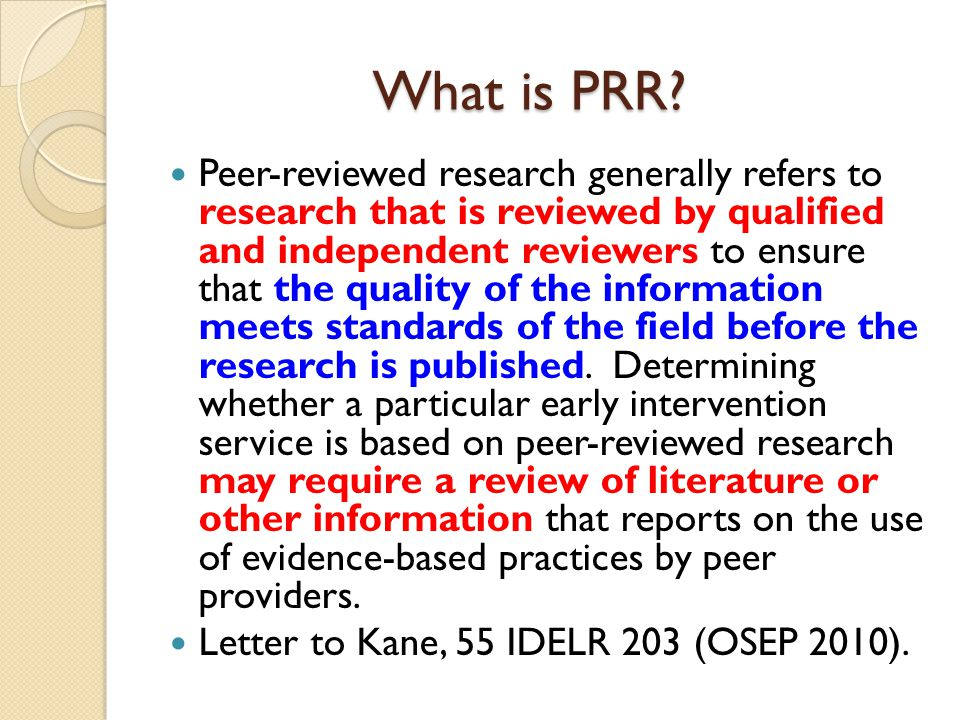 What is PRR