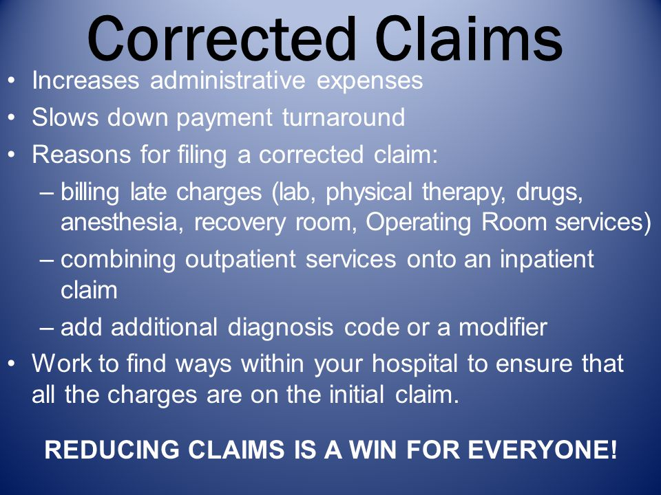 Reducing claims is a win for everyone!