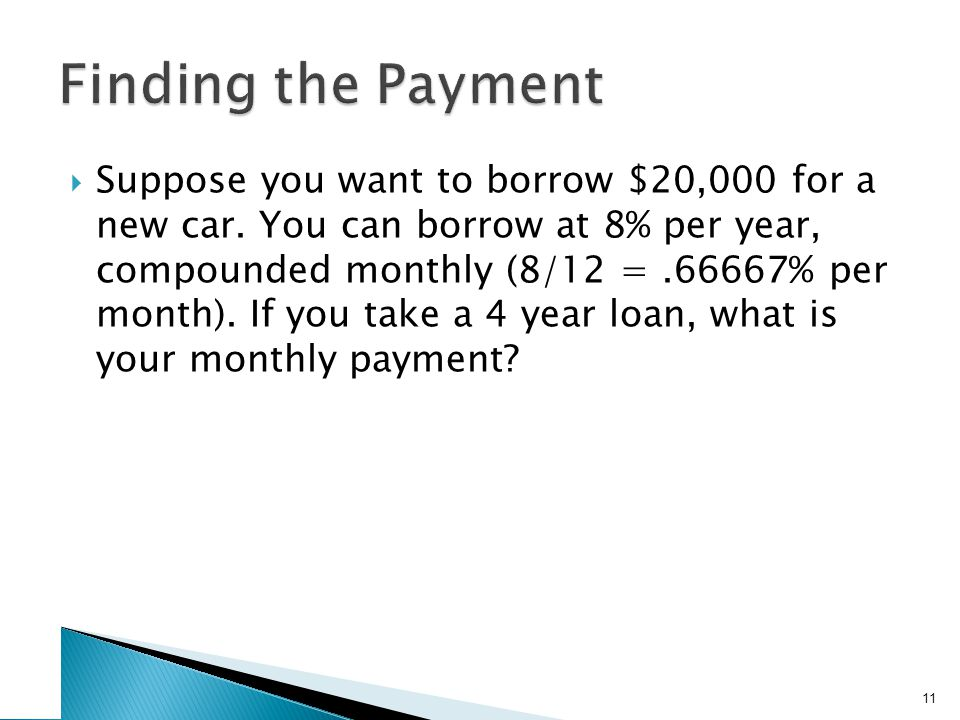 Finding the Number of Payments –