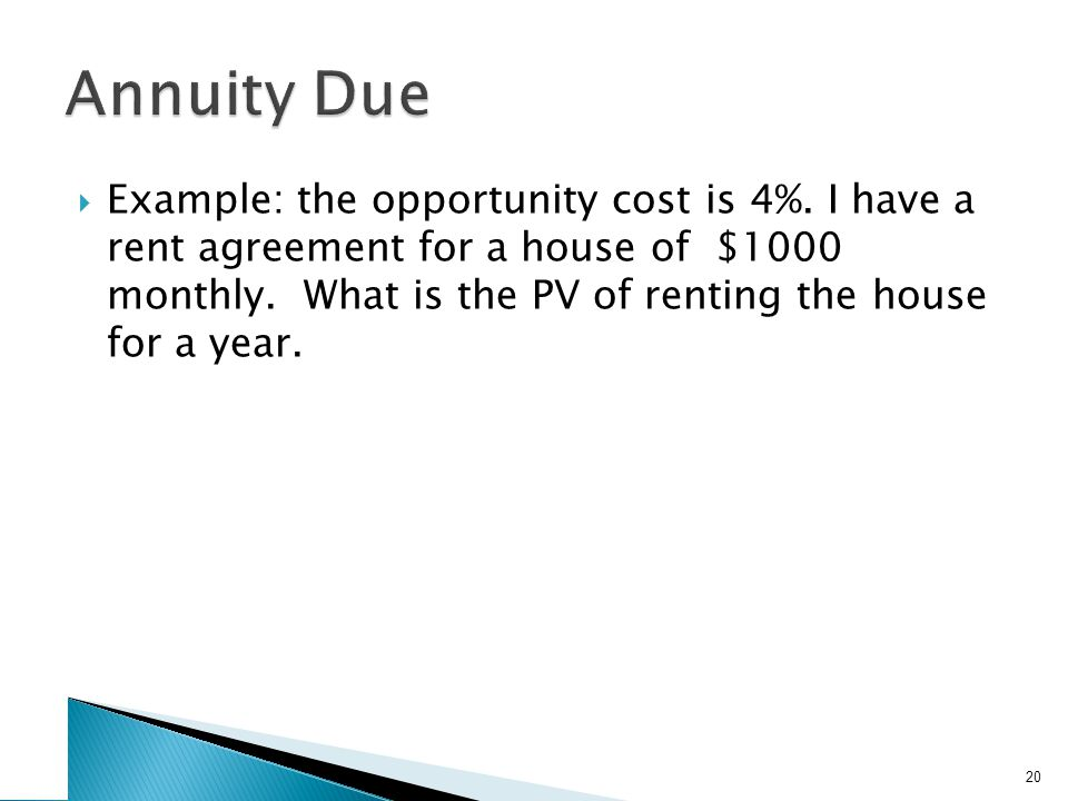 Annuity Due – Example 2