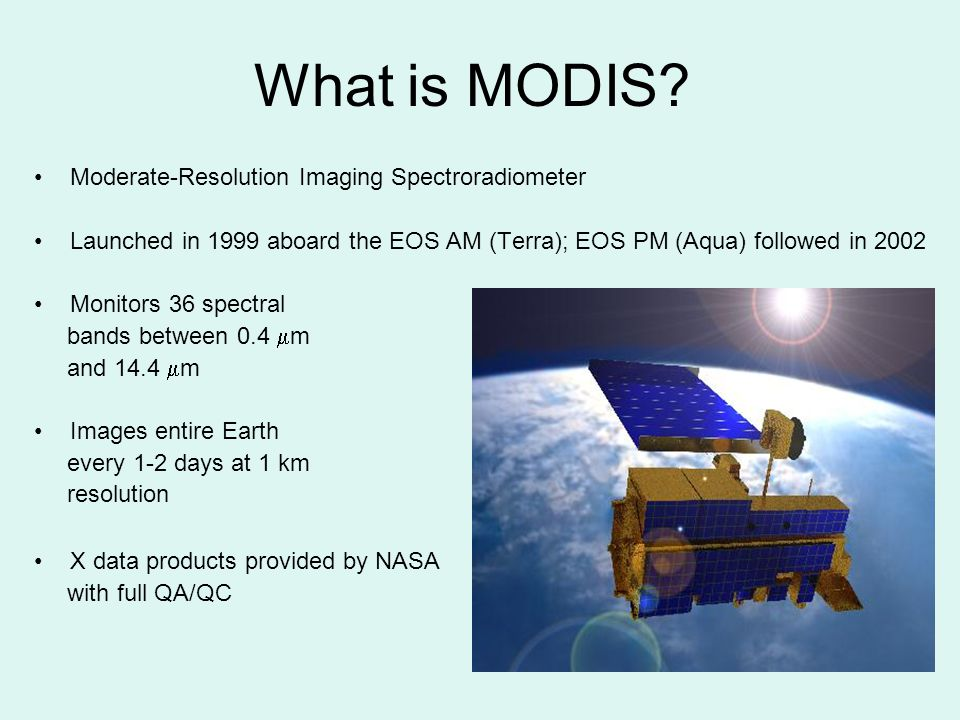 What is MODIS Moderate-Resolution Imaging Spectroradiometer