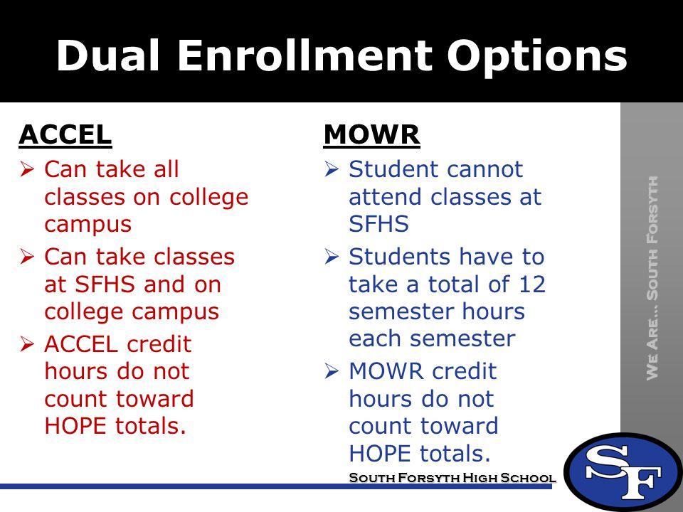 Dual Enrollment Options