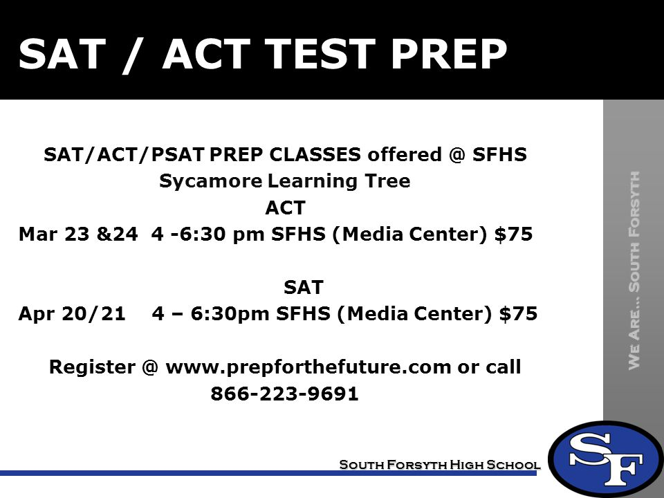 SAT / ACT TEST PREP
