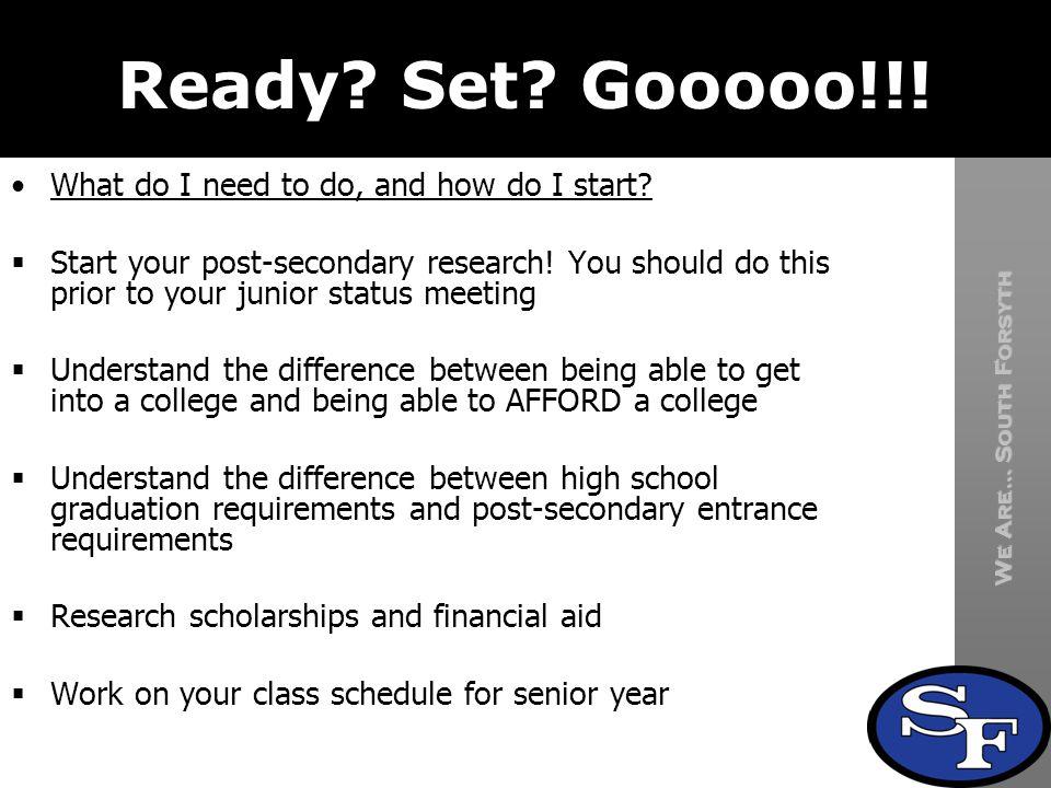 Ready Set Gooooo!!! What do I need to do, and how do I start