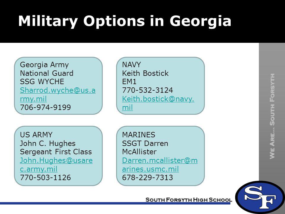 Military Options in Georgia