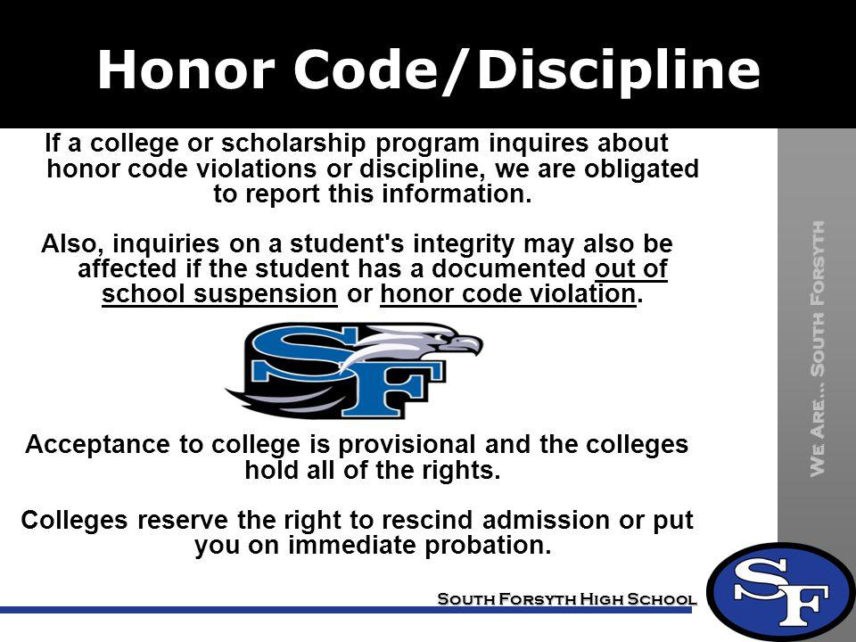Honor Code/Discipline