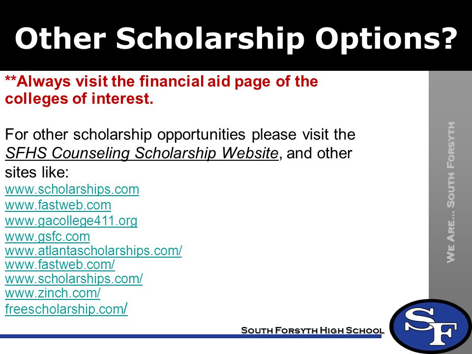 Other Scholarship Options