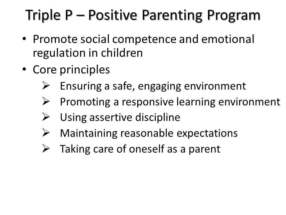 Triple P – Positive Parenting Program