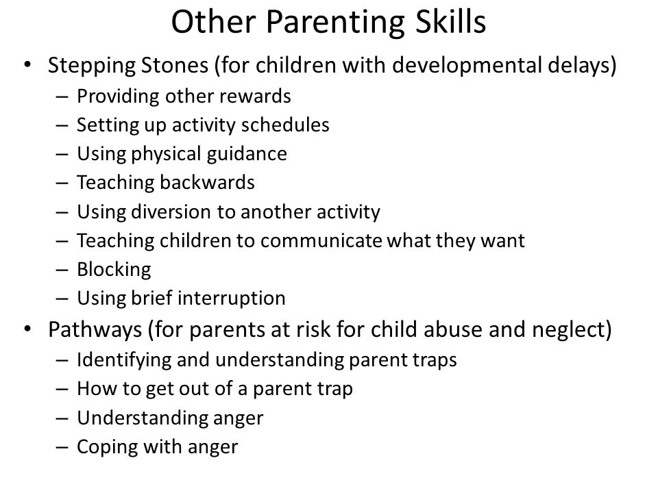Other Parenting Skills