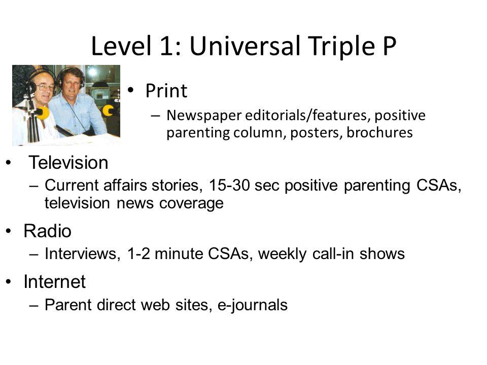 Level 1: Universal Triple P