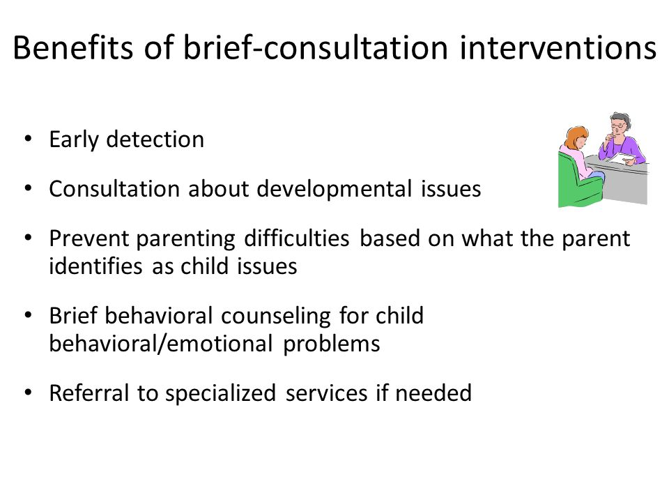 Benefits of brief-consultation interventions
