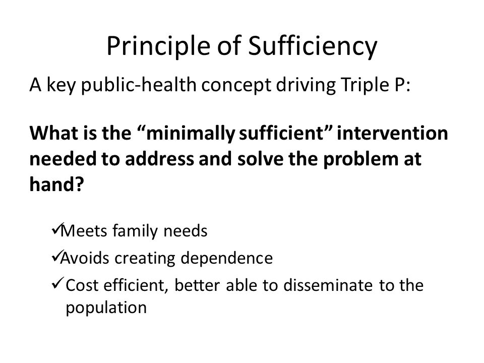 Principle of Sufficiency