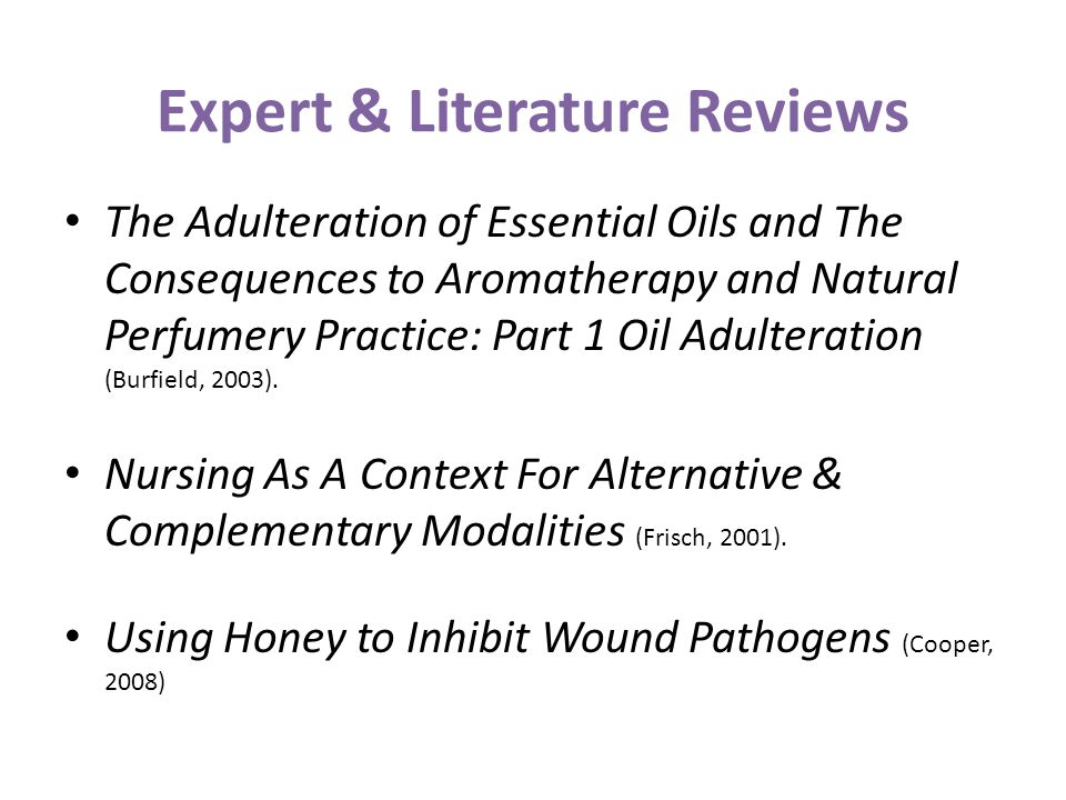 Expert & Literature Reviews