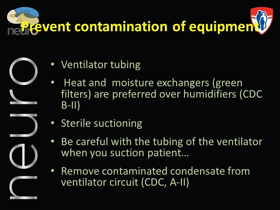Prevent contamination of equipment