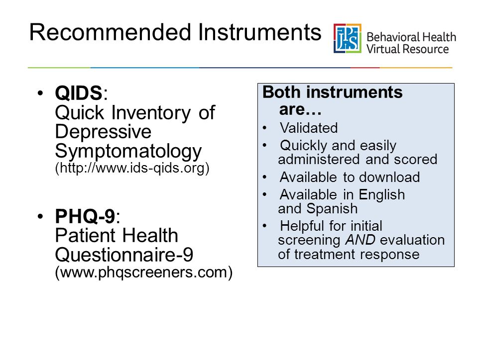 Recommended Instruments