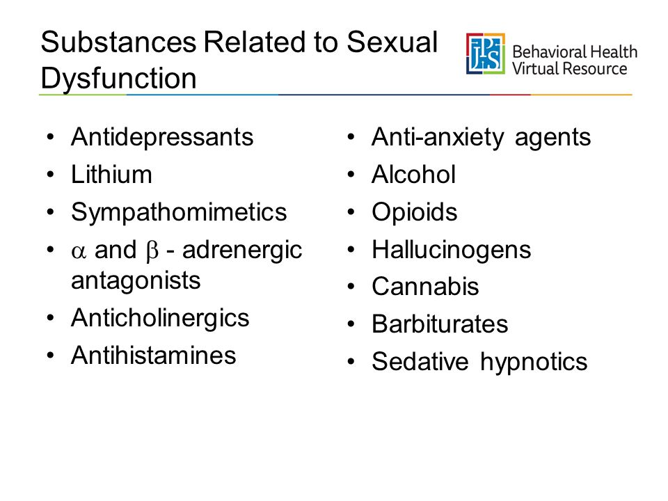 Substances Related to Sexual Dysfunction