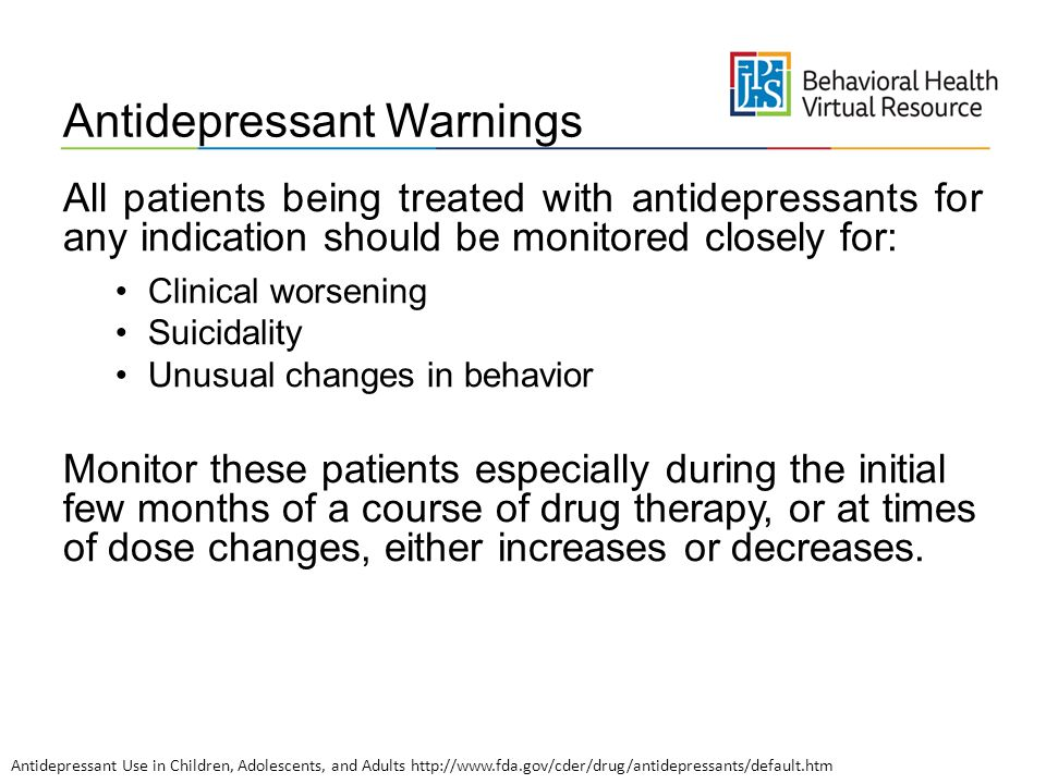 Antidepressant Warnings