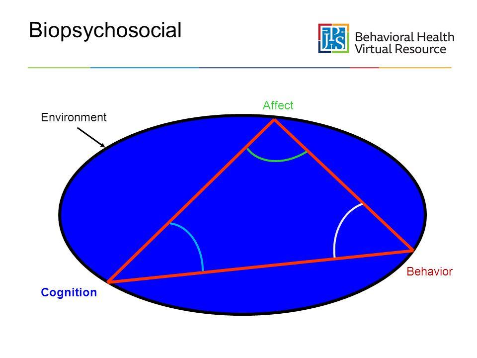 Biopsychosocial Affect Environment Behavior Cognition