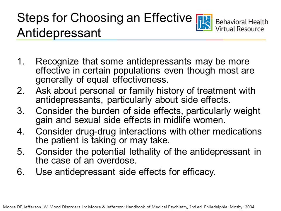 Steps for Choosing an Effective Antidepressant