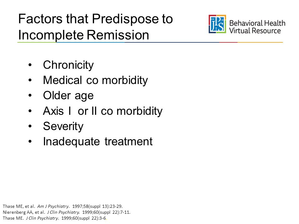 Factors that Predispose to Incomplete Remission