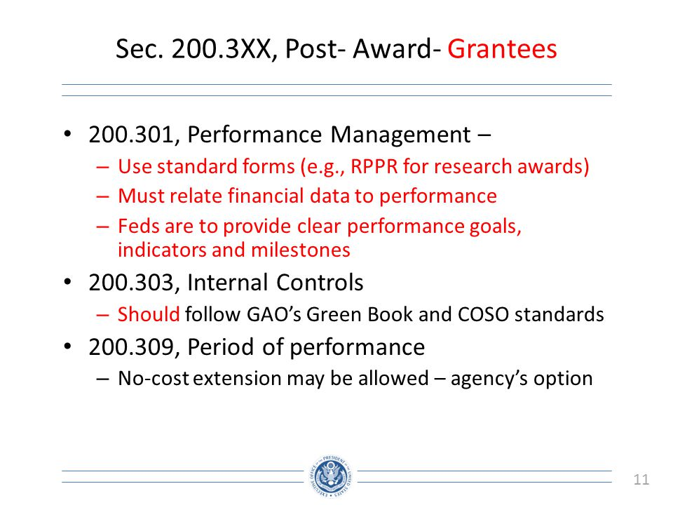 Sec XX, Post- Award- Grantees