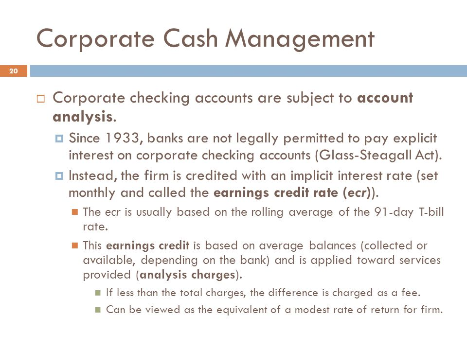 Corporate Cash Management