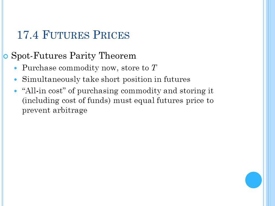 17.4 Futures Prices Spot-Futures Parity Theorem