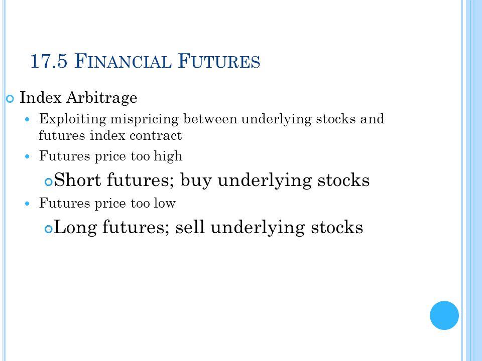 17.5 Financial Futures Short futures; buy underlying stocks