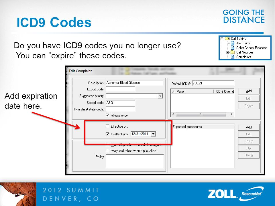 ICD9 Codes Do you have ICD9 codes you no longer use