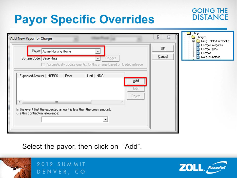 Payor Specific Overrides