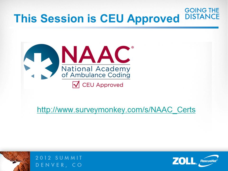 This Session is CEU Approved