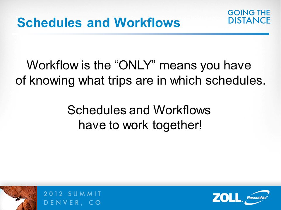 Schedules and Workflows
