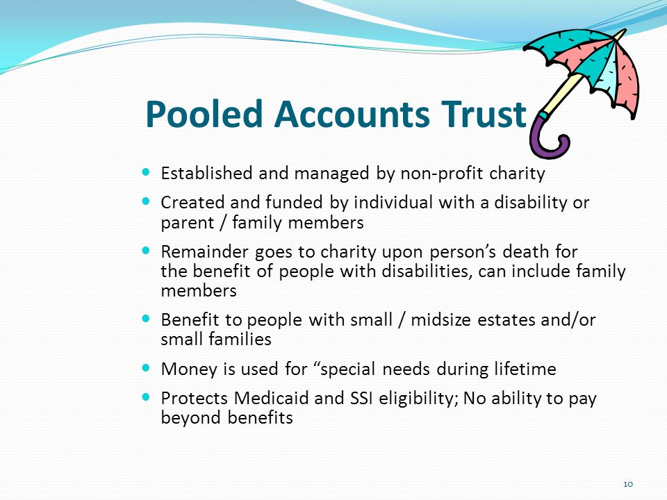 Pooled Accounts Trust Established and managed by non-profit charity