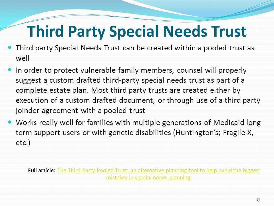 Third Party Special Needs Trust