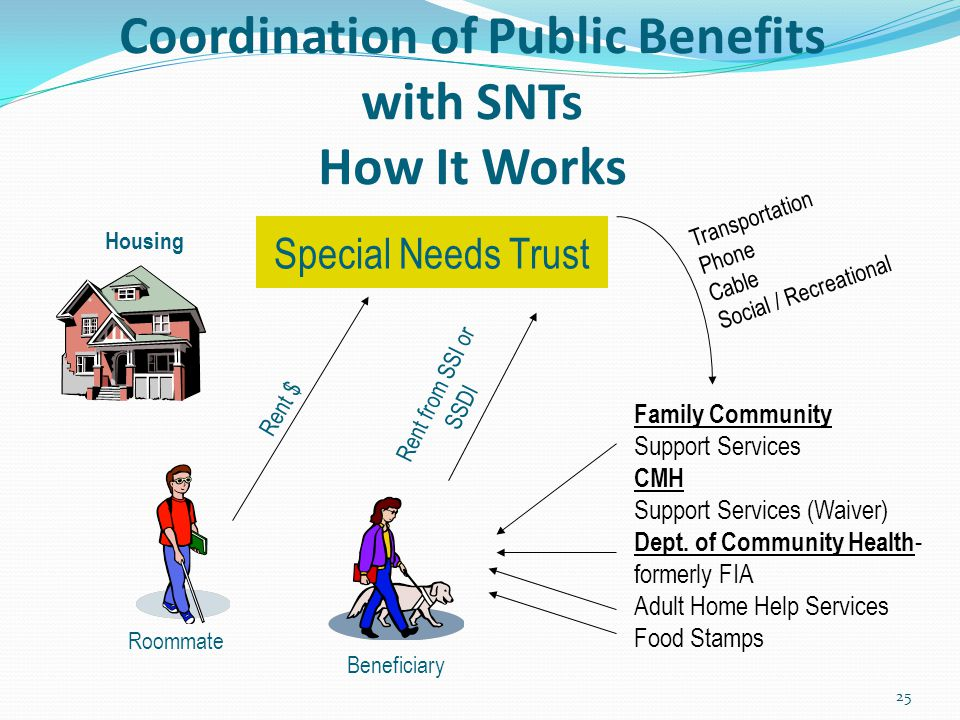 Coordination of Public Benefits with SNTs How It Works