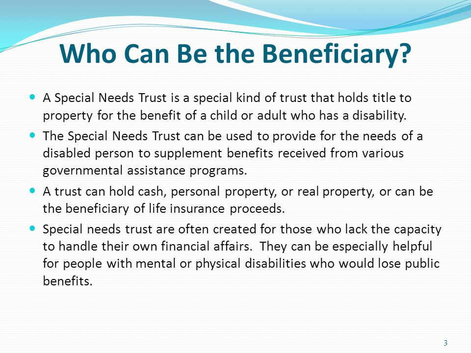 Who Can Be the Beneficiary