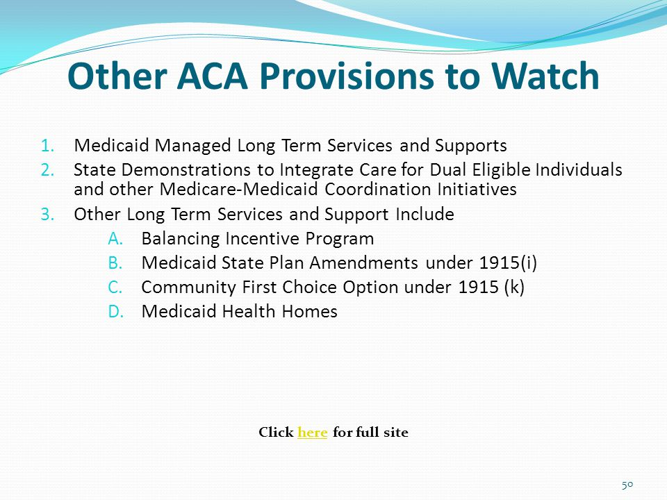 Other ACA Provisions to Watch