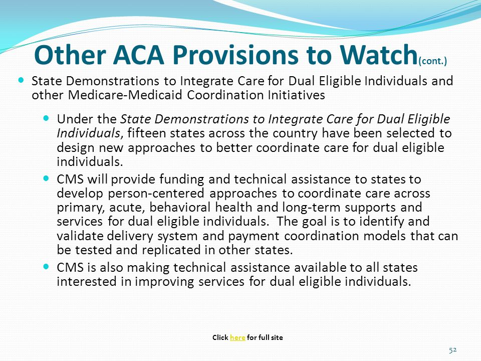 Other ACA Provisions to Watch(cont.)