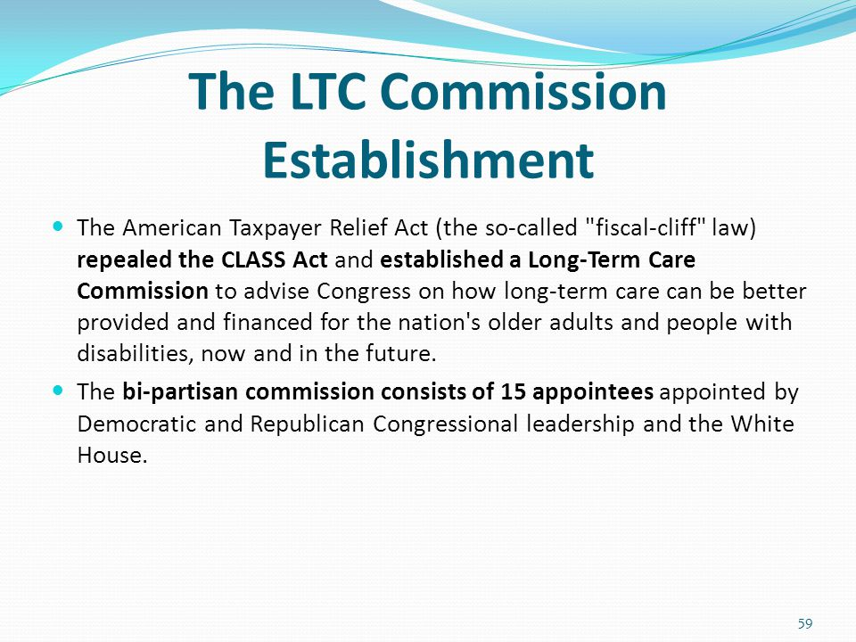The LTC Commission Establishment