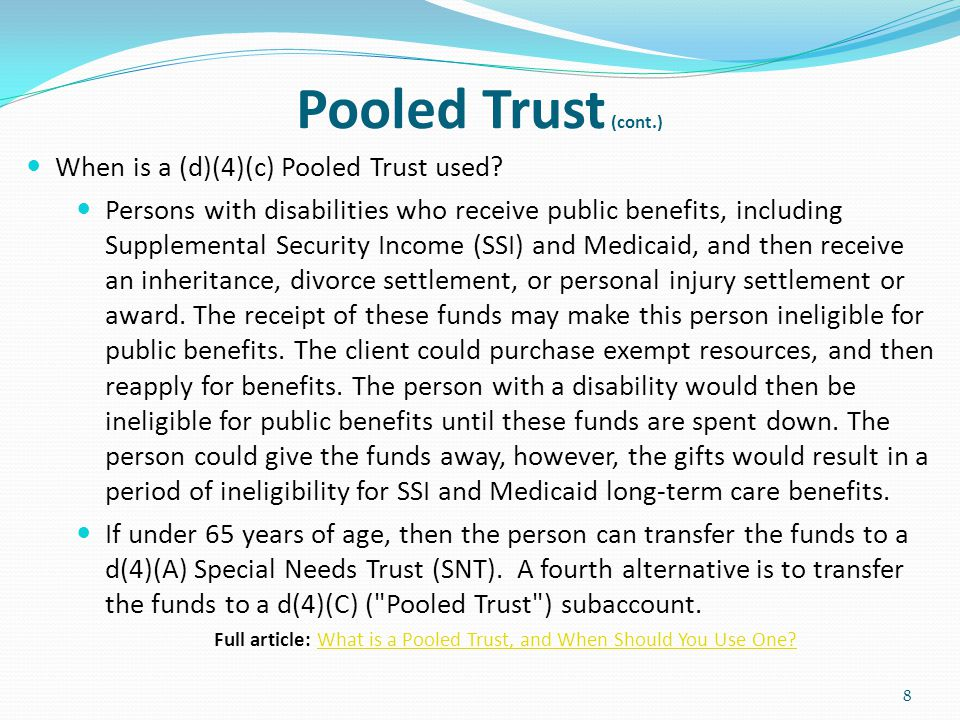 Full article: What is a Pooled Trust, and When Should You Use One