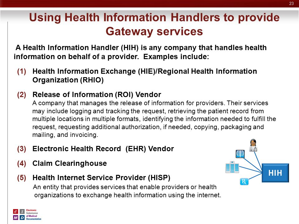 Using Health Information Handlers to provide Gateway services
