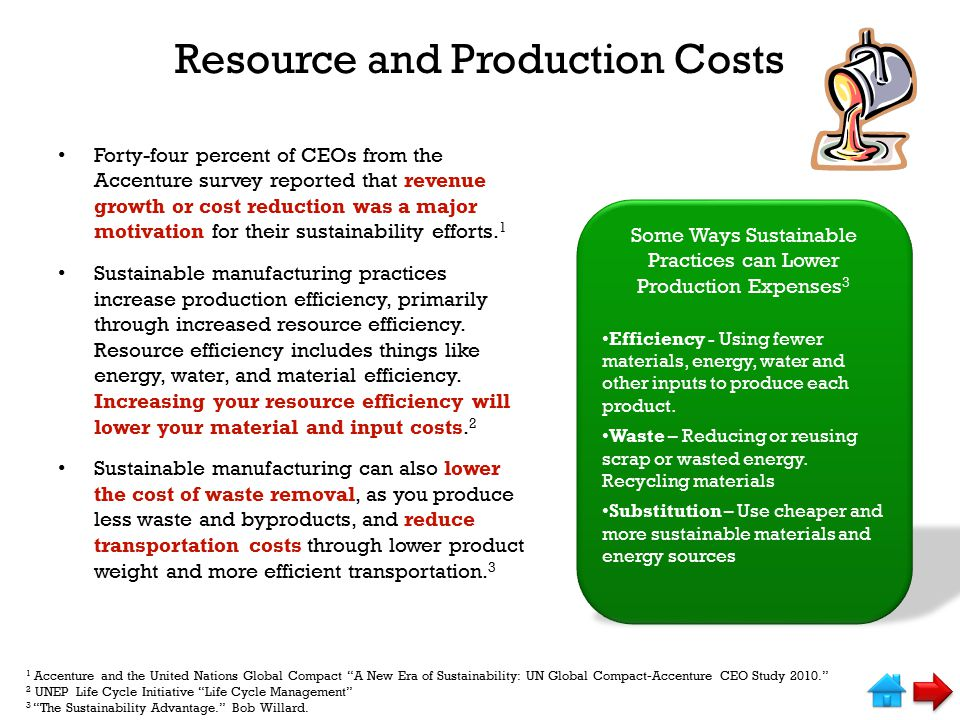 Resource and Production Costs