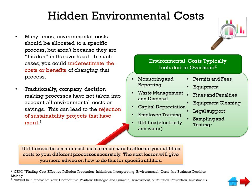 Hidden Environmental Costs